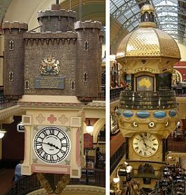 Queen Victoria Building Clocks